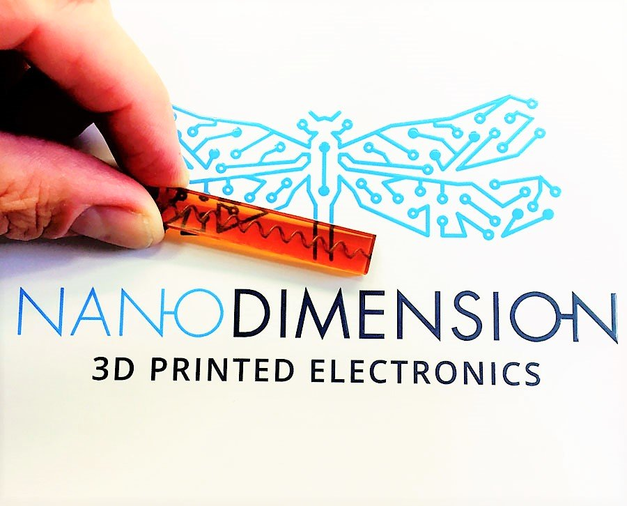 Nano Dimension 3D Printed Coil Embedded in Object