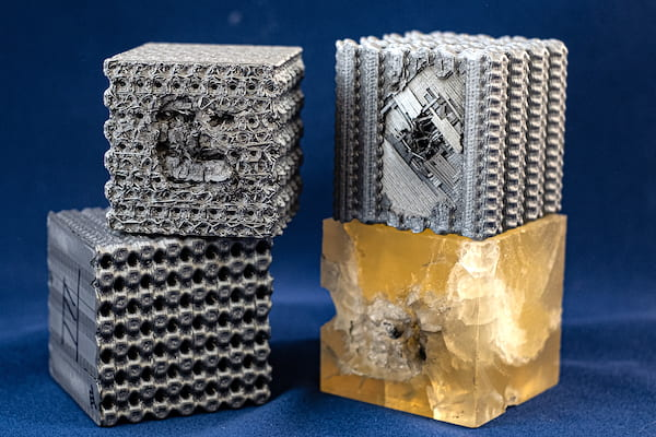 For University creates 3D printed polymer cubes that are bulletproof